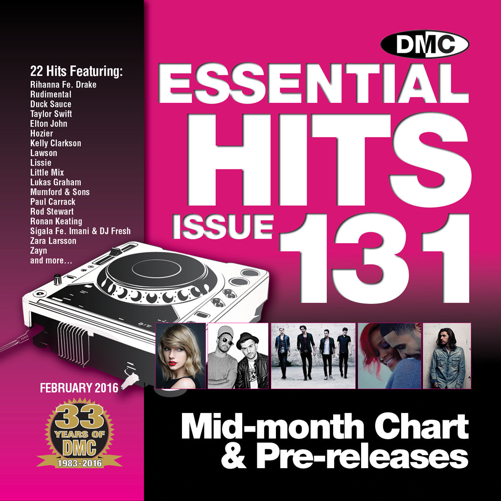DMC ESSENTIAL HITS 131 - Mid February 2016 release