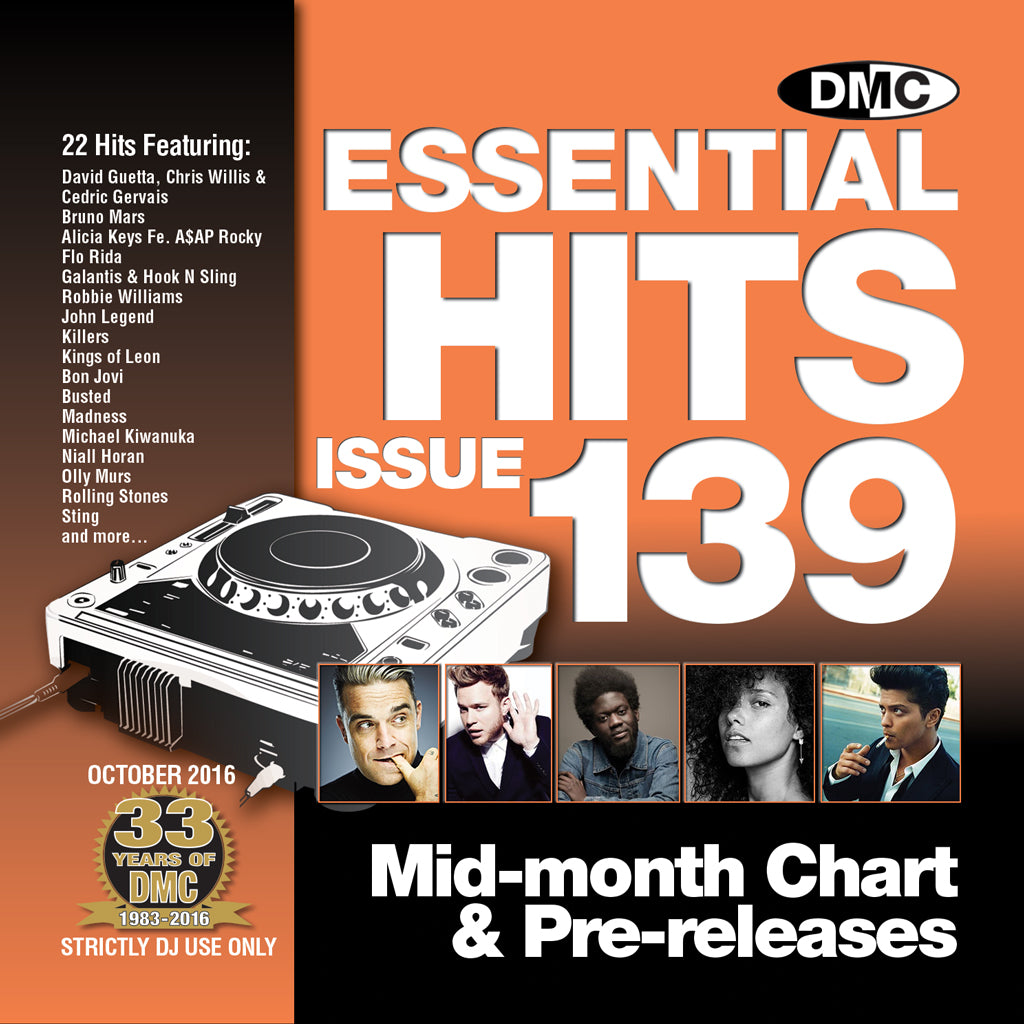 DMC Essential Hits 139 - Mid October 2016 release