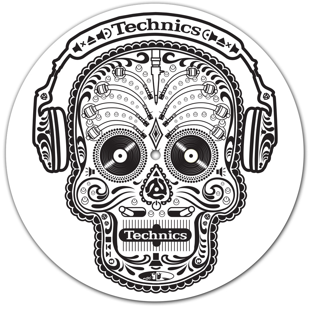 Technics Skull n Phones Slipmats (Pair) - New