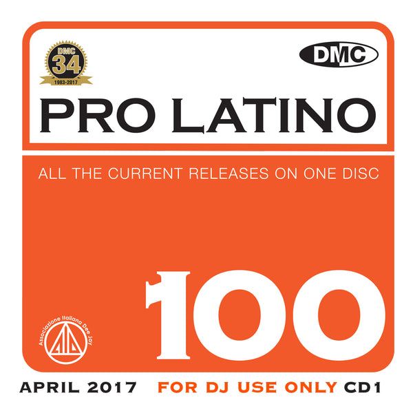 DMC Pro Latino 100 - free extra bonus cd - May 2017 release