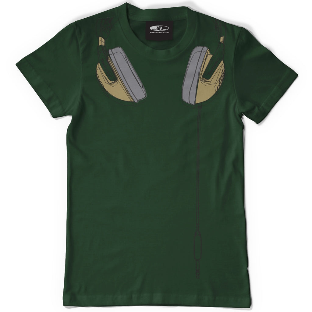 Technics Headphones T-shirt - Green