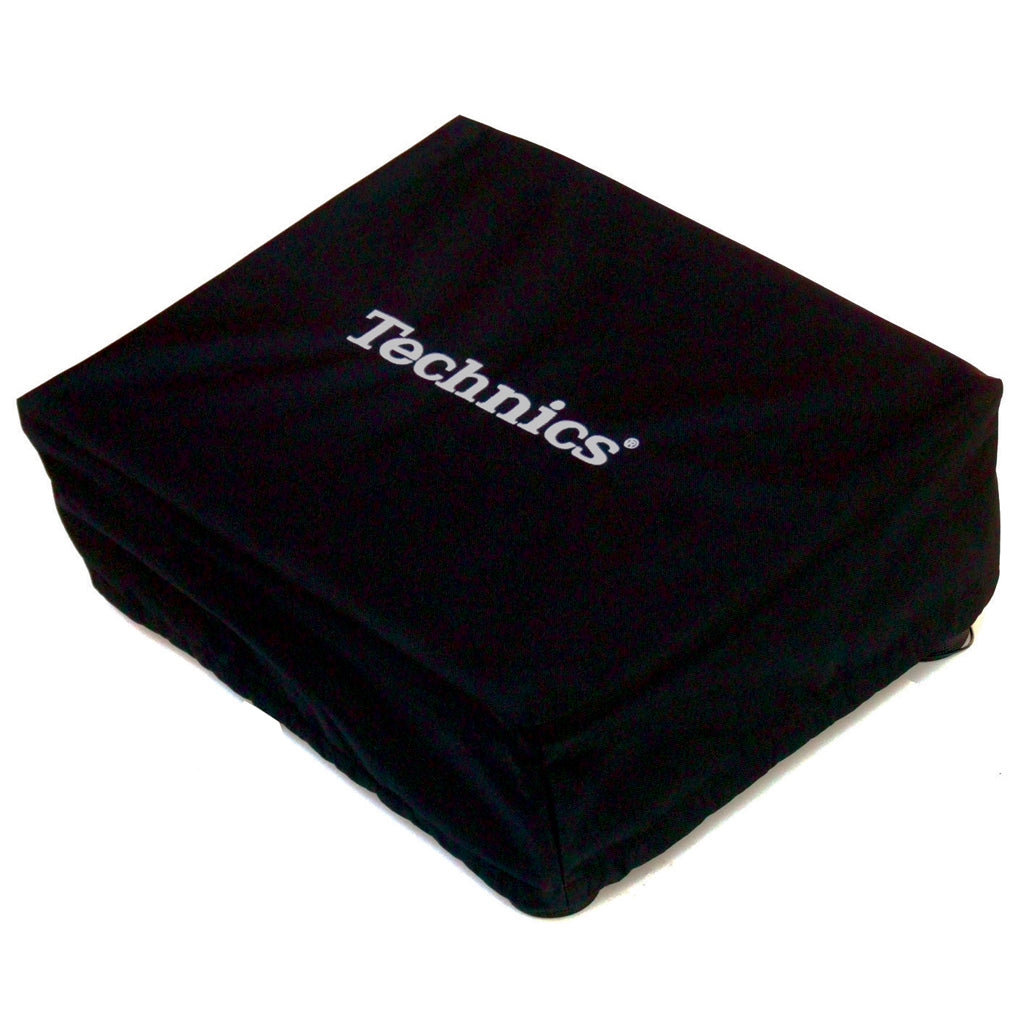 Technics Deck Cover - Black with Silver Embroidery - New