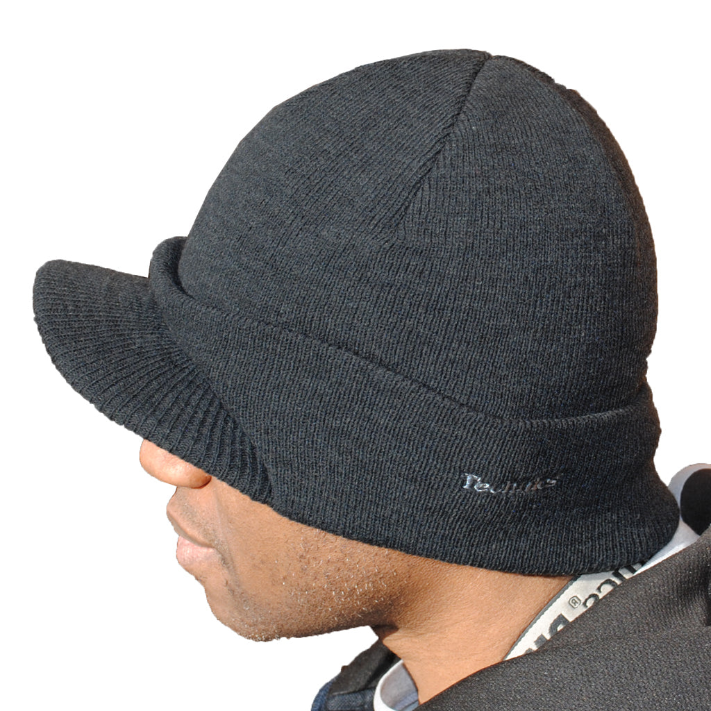 5f468b38c Technics Peaked Beanie Hat - Charcoal Grey
