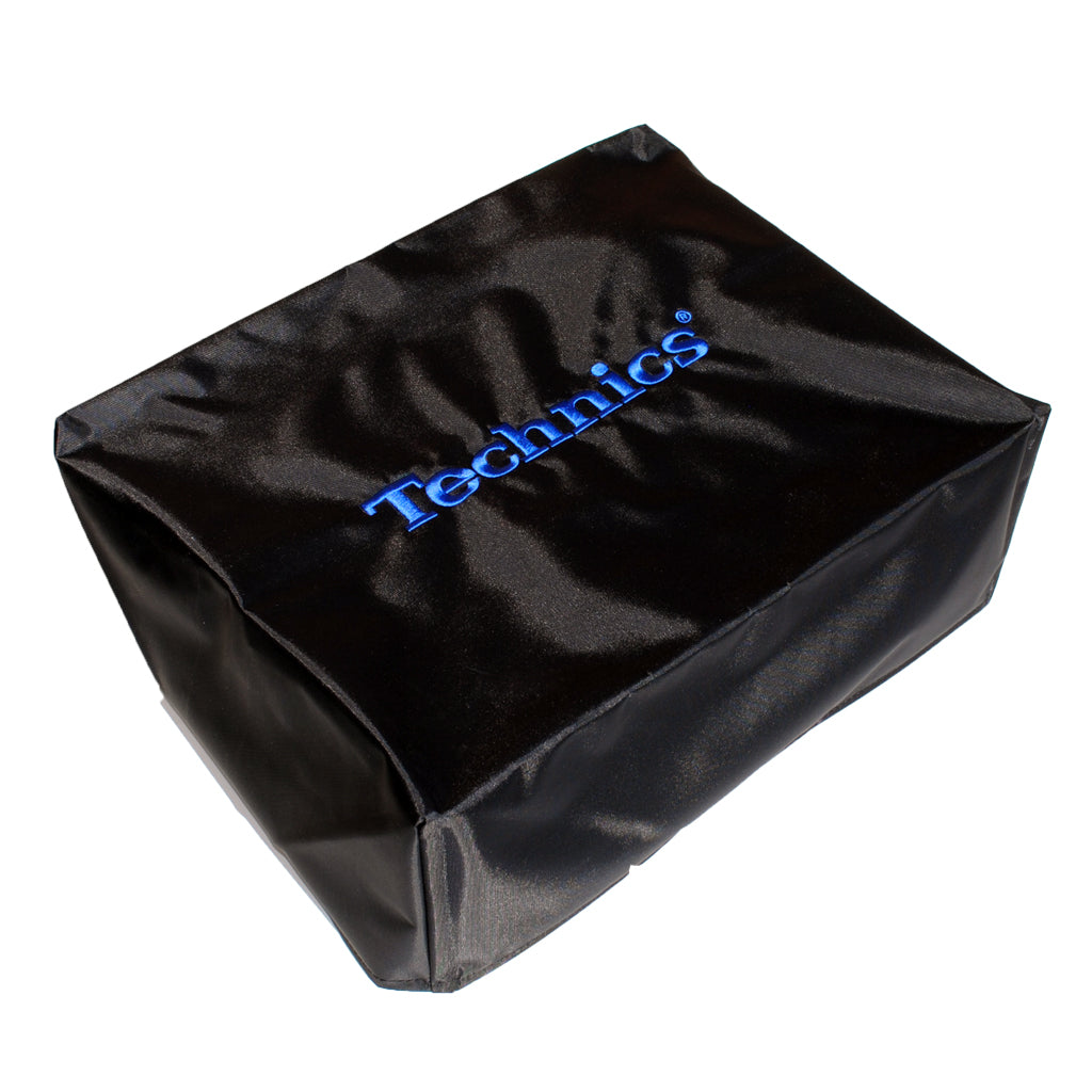 DMC Technics Classic Deck Covers - Black with Electric Blue Embroidery