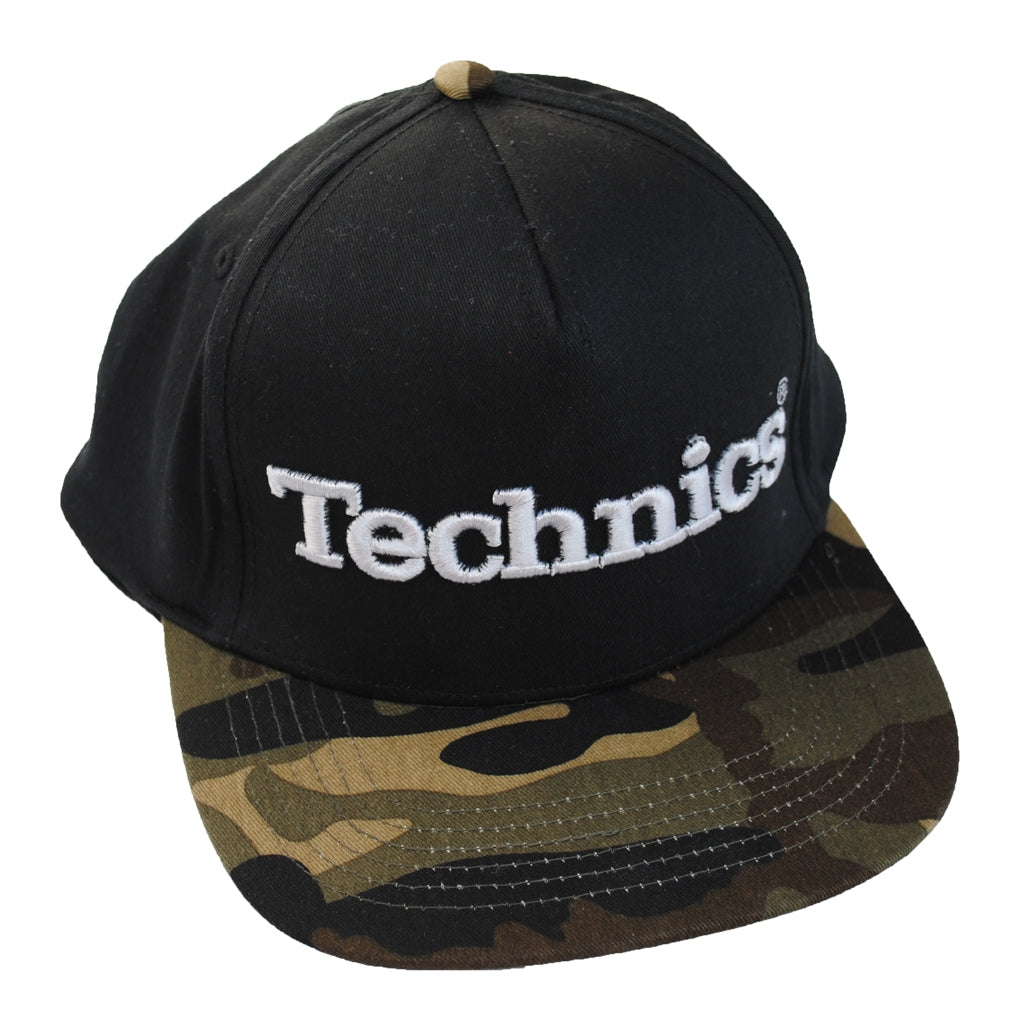 Check Out Technics Snapback Cap Black and Jungle Camo On The DMC Store