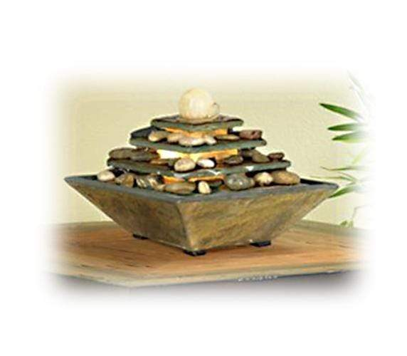 Rock, Ceramic or Stone Motif Fountains