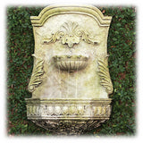 "Classic Design in Moss White Finish 29"" Ornate Scrollwork Wall Fountain"