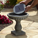 Aquanura Bird Bath to Solar Fountain Insert Kit with Two Spray Heads