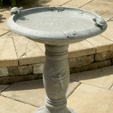 Country Garden Turtle and Dragonfly Traditional Fiberstone Birdbath