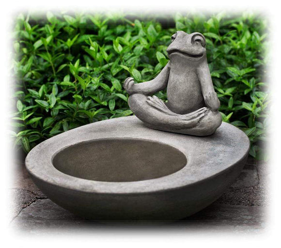 Hand Crafted Meditating Frog Design 9.25