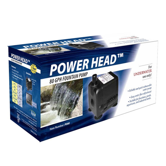 Power Head 80GPH Indoor Water Fountain Replacement Pump