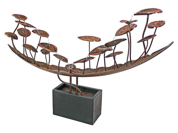 Botanical Copper Color Metal Boat 47