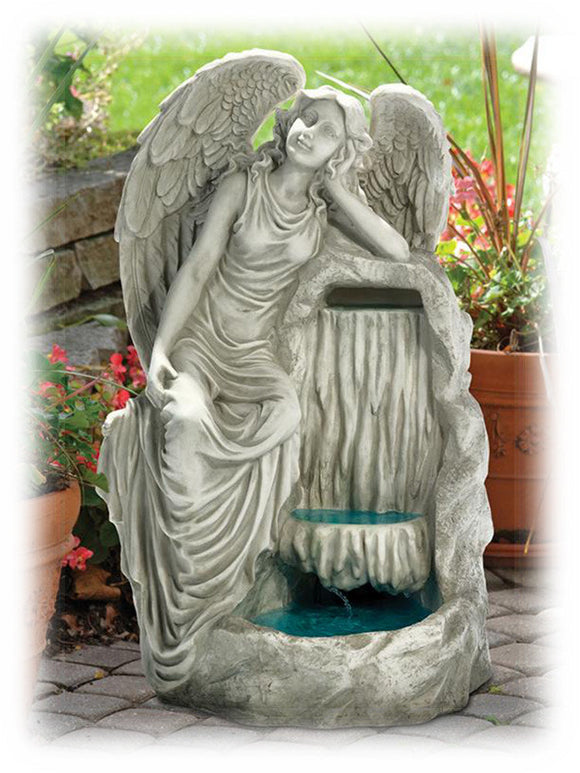 Angel of Grace Resting by Waterfall 28