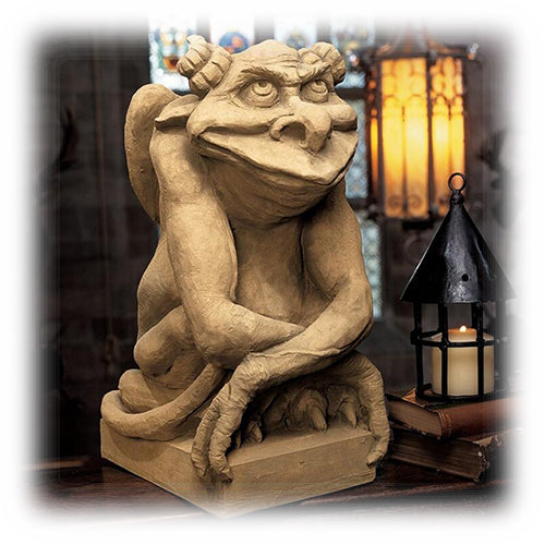 Large Oscar The Grouchy Gargoyle Statue with Attitude Halloween Decoration