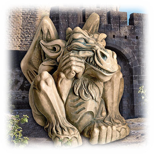 Medium Feast on Fools Classic Decorative Medieval Gargoyle Statue
