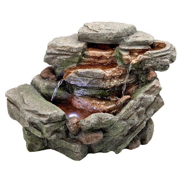 Lighted Tiers Faux Stone 8
