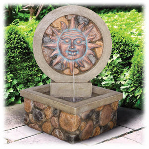"Large Faux Bronze 29.5"" Corner Design Decorative Spitting Outdoor Fountain"