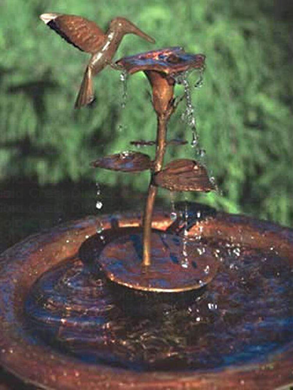 Copper Hovering Hummingbird Decorative Fountain Conversion Kit - TabletopFountainsPlus