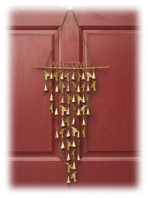Durable Copper Colored Steel Hummingbird & Tiny Bells Mobile/Wind Chime