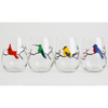 Four Birds Stemless Wine Glasses - ColorCognition.com