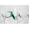 Hummingbird Stemless Wine Glasses - ColorCognition.com