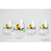 Golden Finch Stemless Wine Glasses - ColorCognition.com