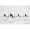 Bluebird Stemless Wine Glasses - ColorCognition.com
