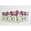 Purple Iris Drinking Glasses - ColorCognition.com