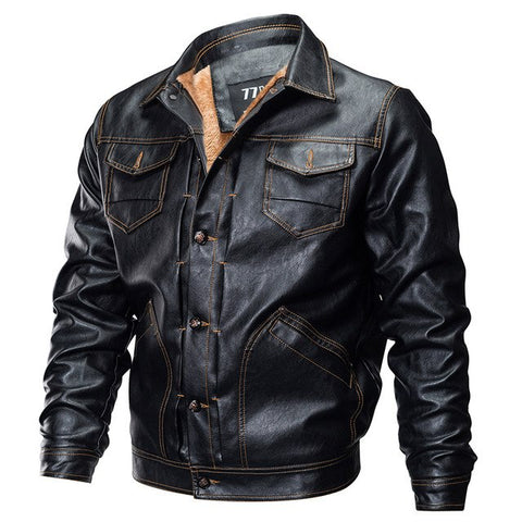 Leather Tactical Army Bomber Jacket