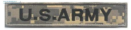 U.S. ARMY Tactical Military Patch Velcro