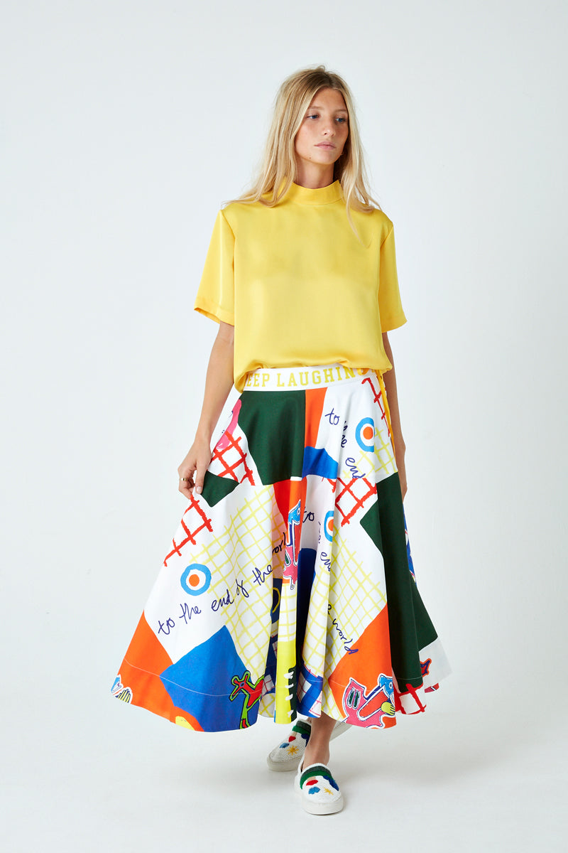 Peru Patchwork Keep Laughing Skirt