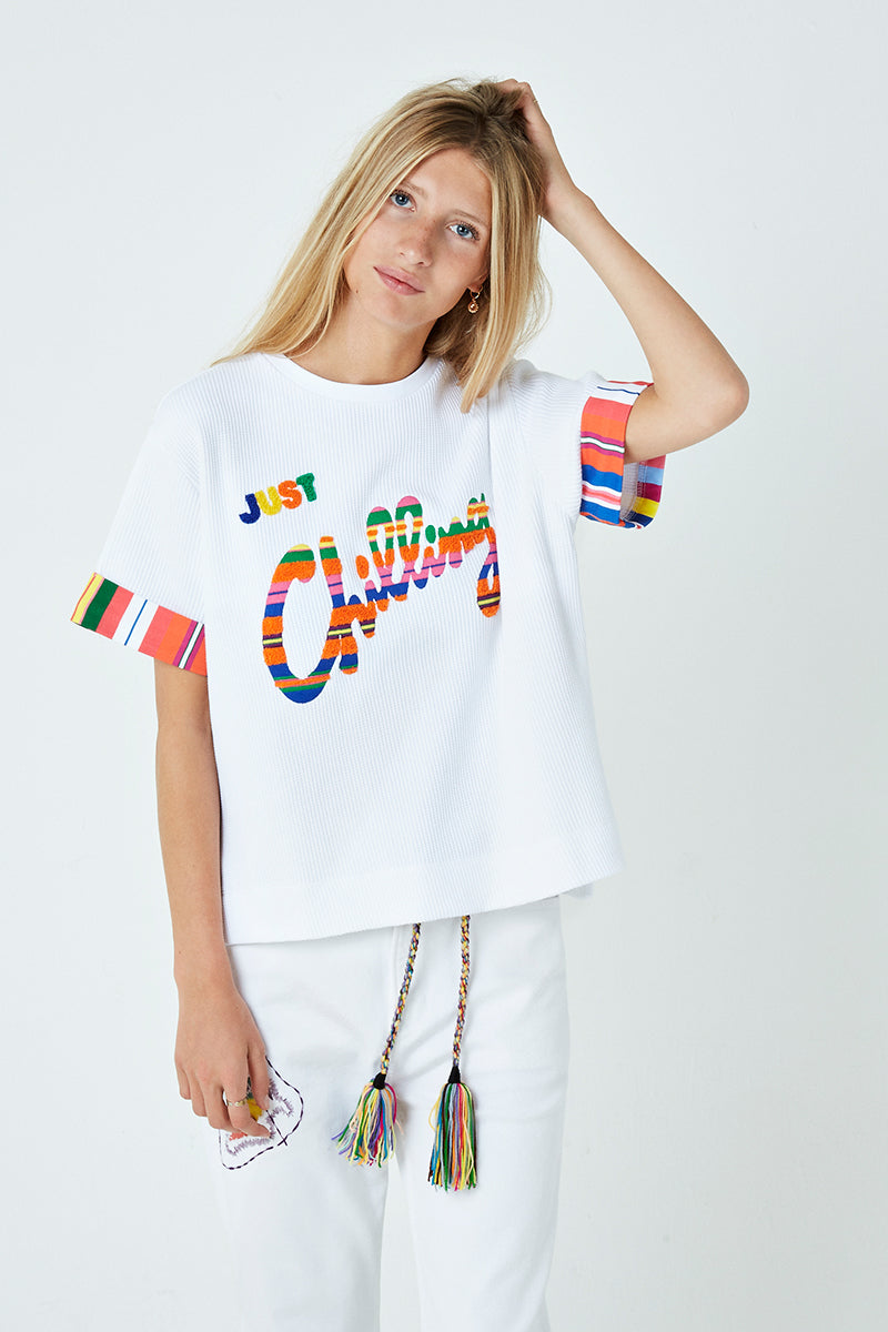 Just Chilling Embroidered T-Shirt