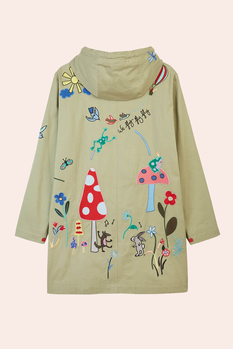 Fairy Tale Embroidered Parka Coat