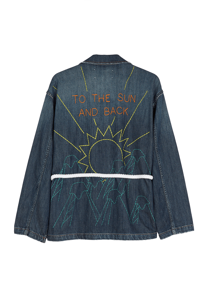 Let's Go Embroidered Denim Jacket