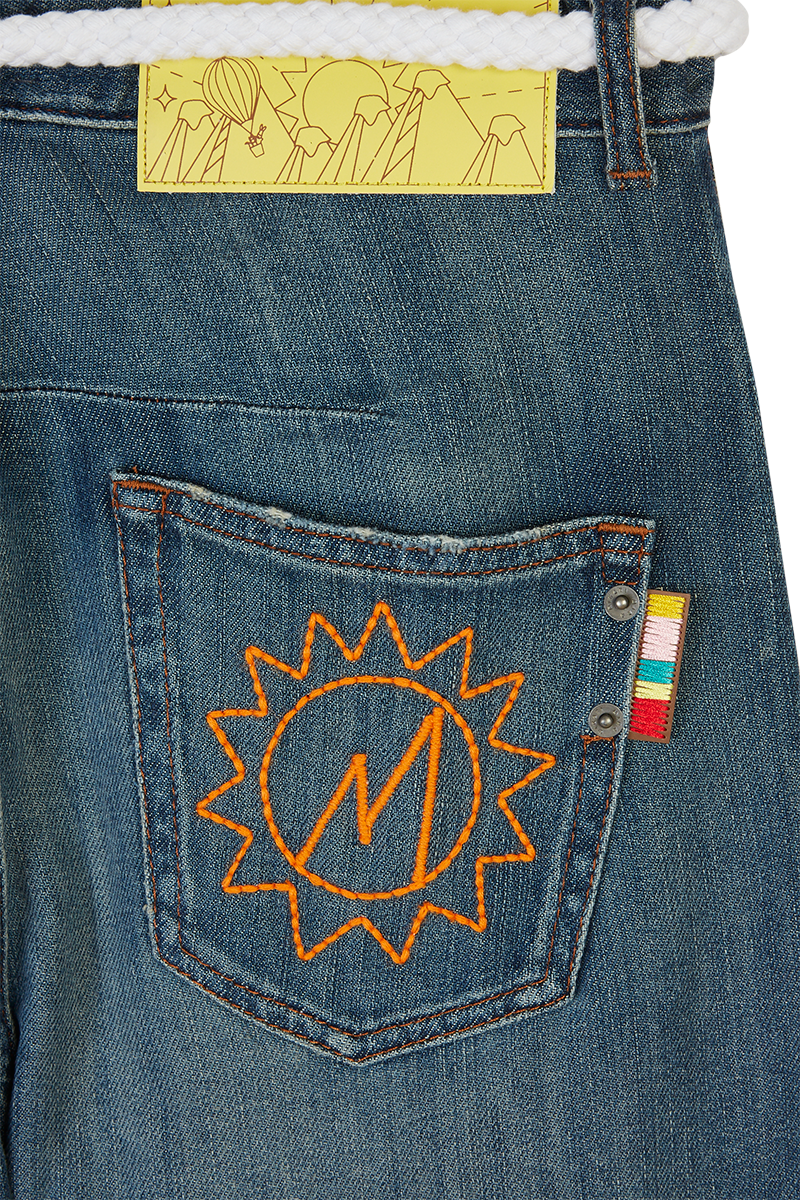 Let's Go Embroidered Denim Jeans