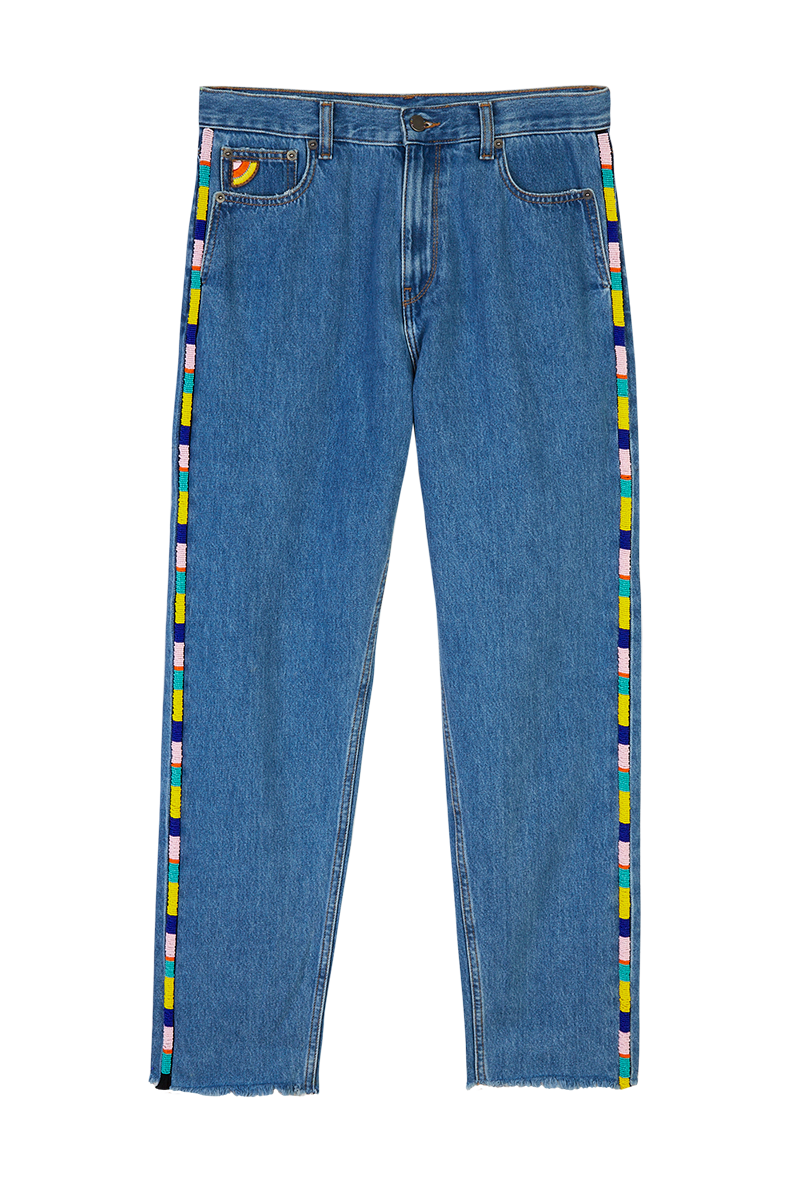 Jeans Trim Denim Beaded