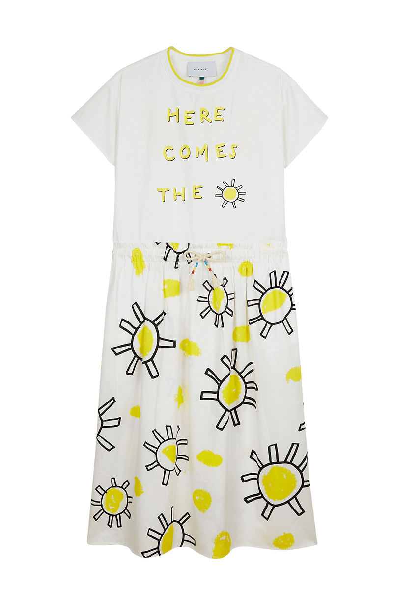 Here Comes The Sun T-Shirt Midi Dress