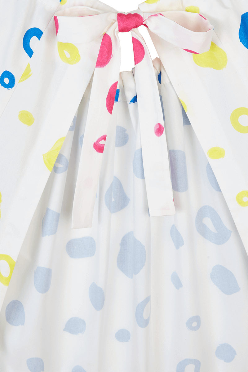 Dot Halter Dress detail