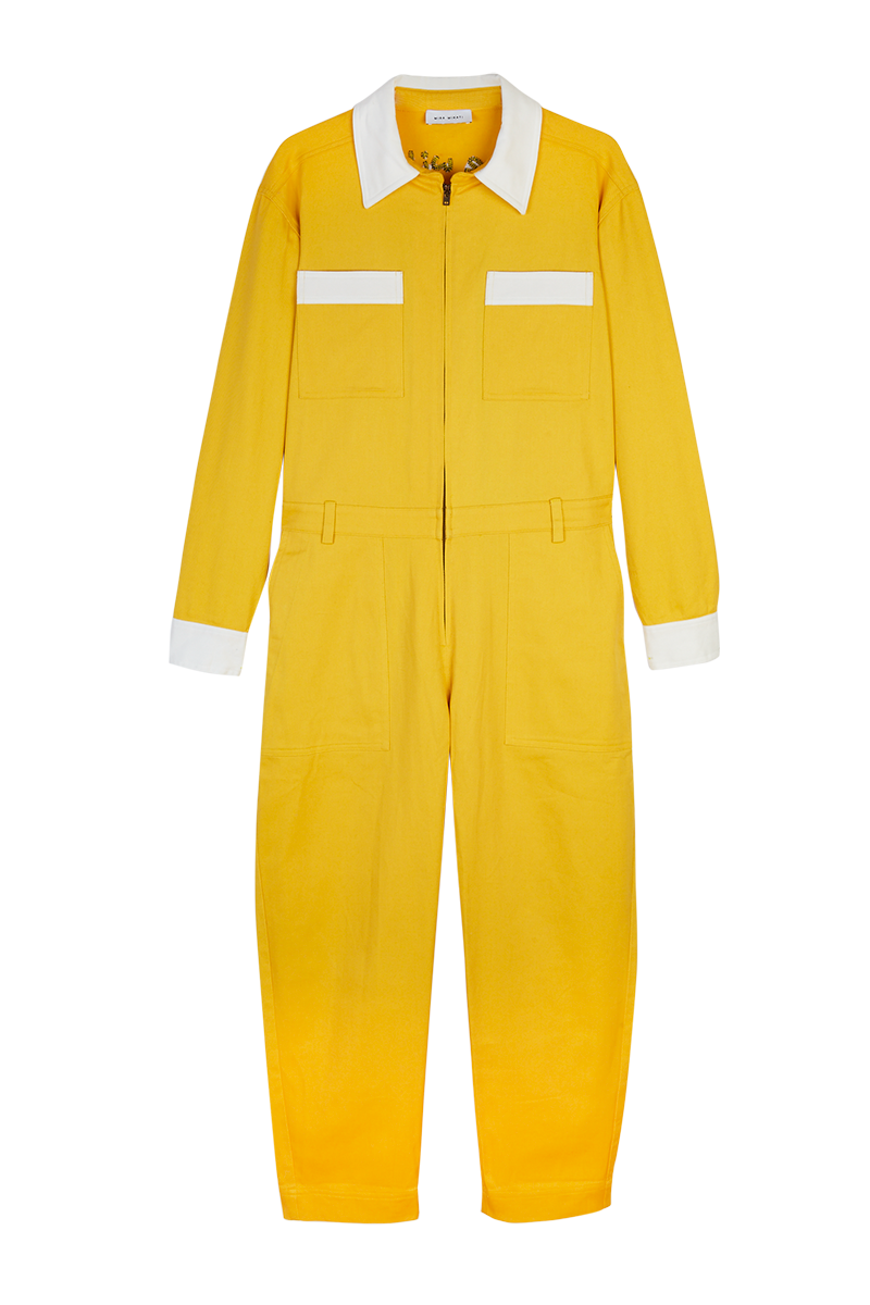 Scooter Embroidered Yellow Jumpsuit