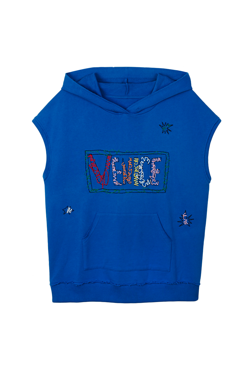 Venice Embroidered Sleeveless Hoody