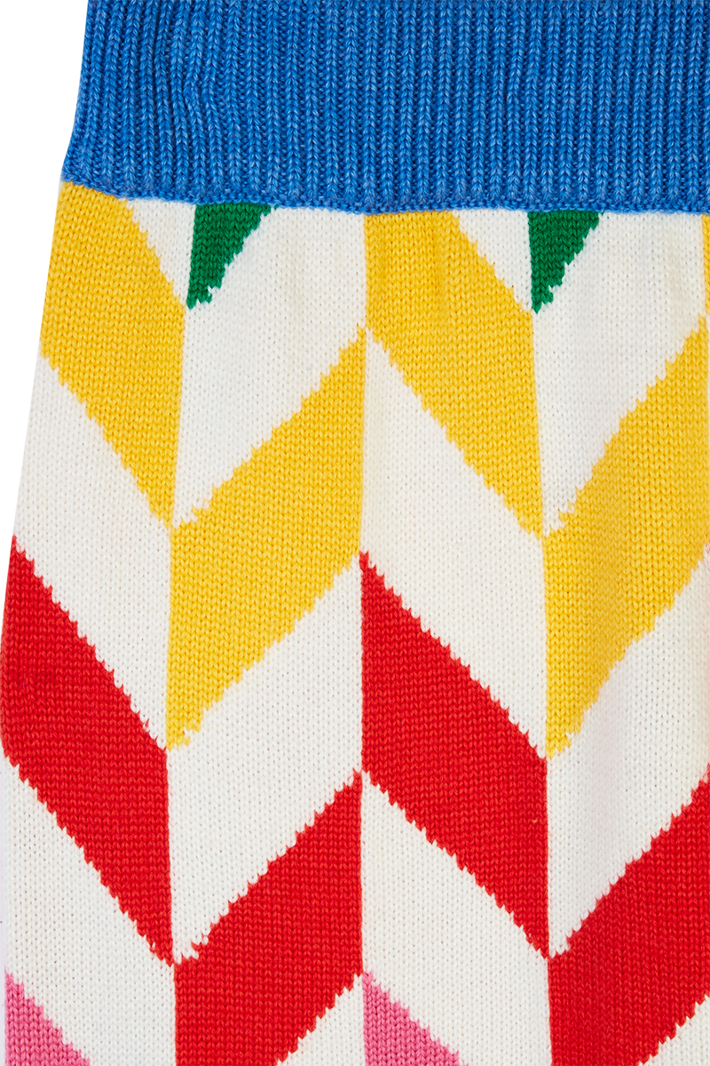 Rainbow Chevron Knitted Trousers