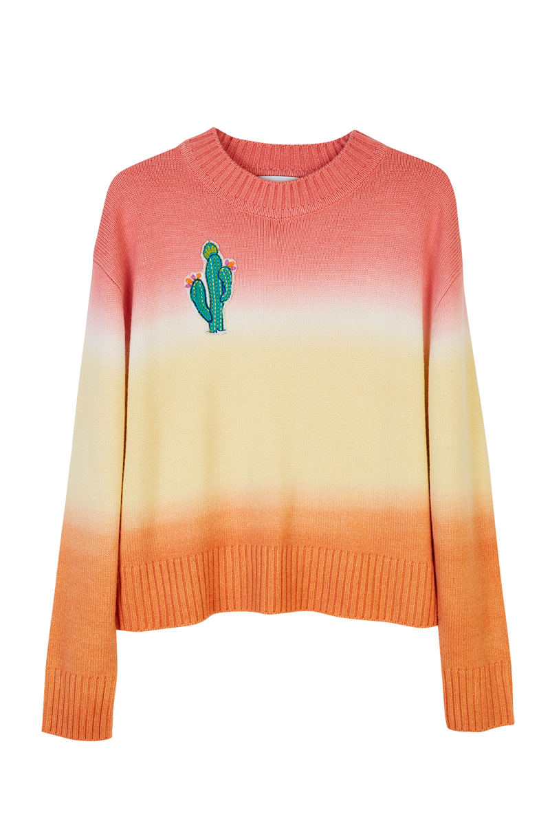 Cactus Tie-Dye Knitted Sweater