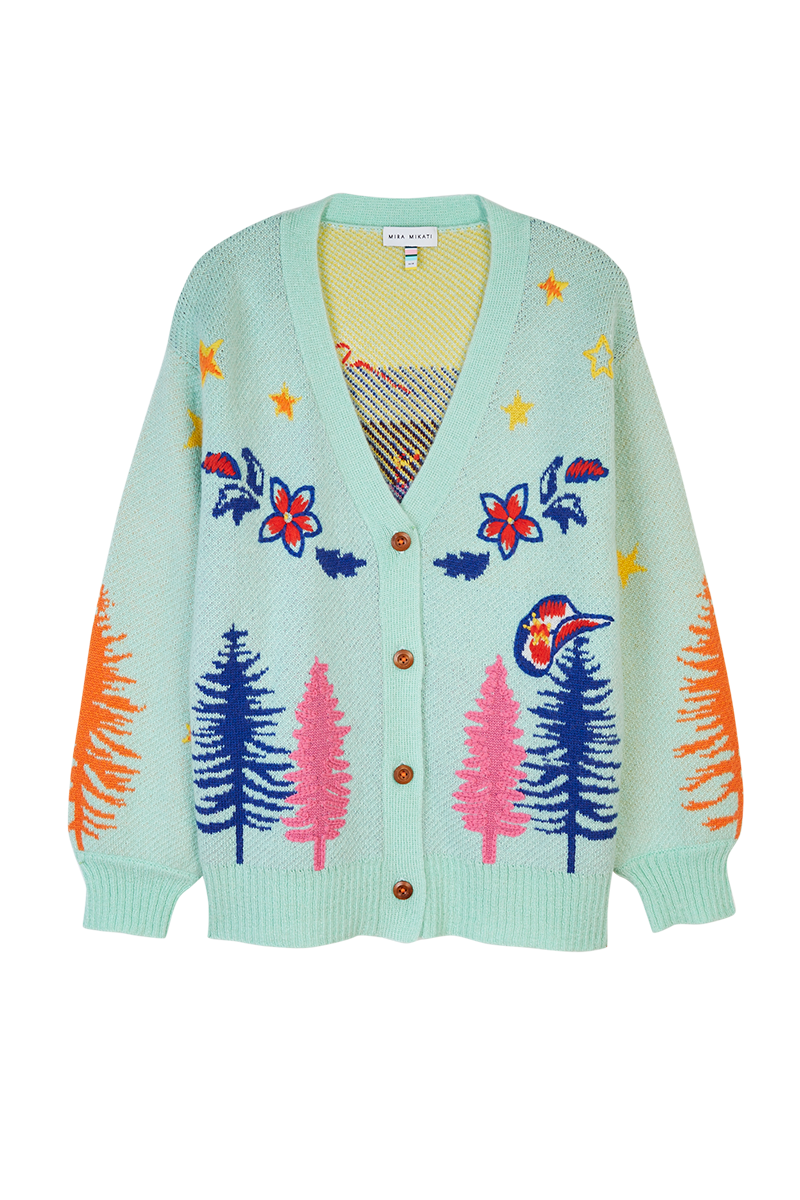 Western Jacquard Embroidered Cardigan