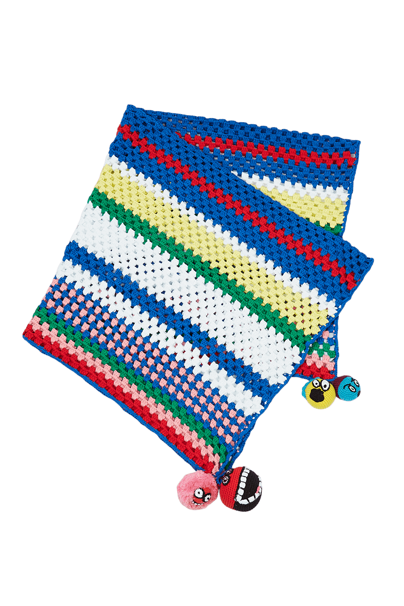 Crochet Rainbow Stripe Blanket