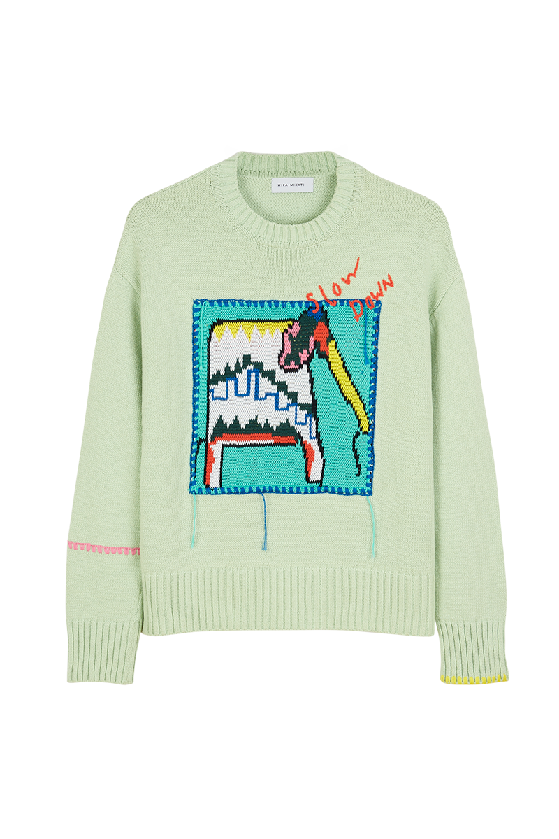 Elephant Patch Sweater