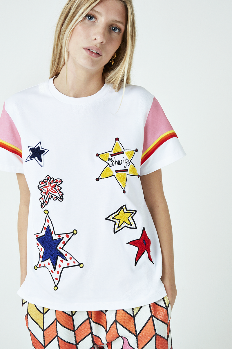 Sheriff Star Embroidered T-Shirt