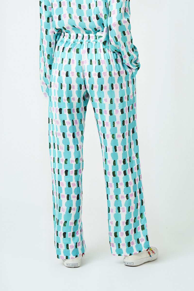 Brick Print Elasticated Trousers