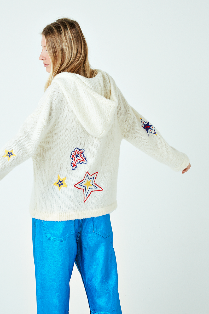 Sheriff Star Embroidered Cashmere Hoodie