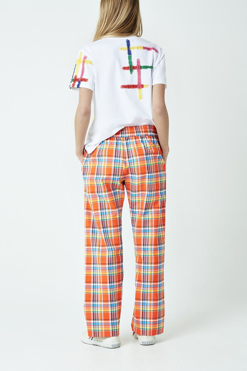 Check Elasticated Waist Trousers