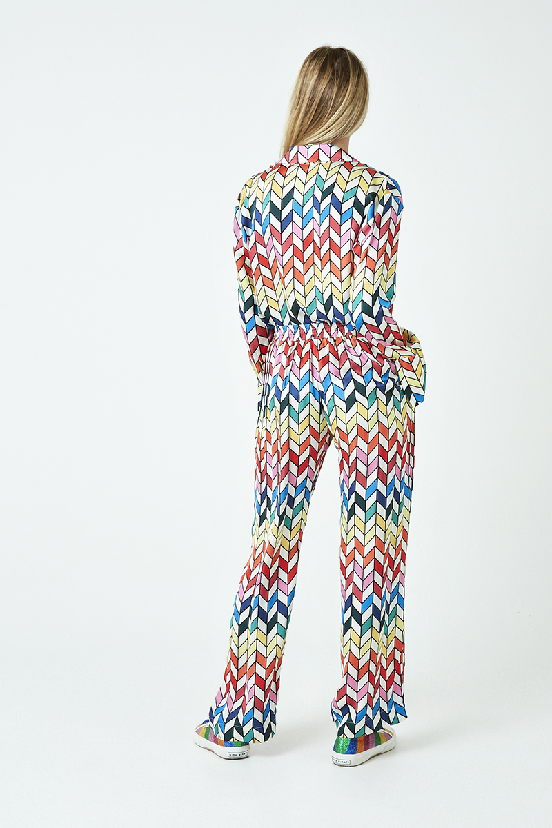 Rainbow Chevron Elasticated Trousers